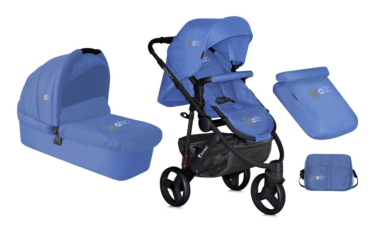 Lorelli Коляска универсальная 2 в 1 Monza-3 цвет голубой teddy коляска 2 в 1 giovani цвет серый