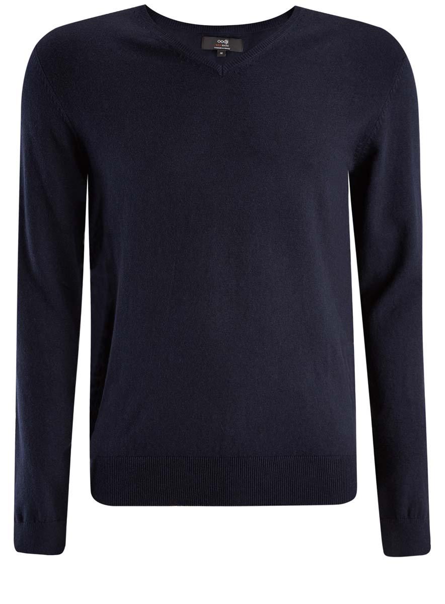 Пуловер мужской oodji Basic, цвет: темно-синий. 4B212004M/39796N/7900N. Размер XL (56) hama 39796
