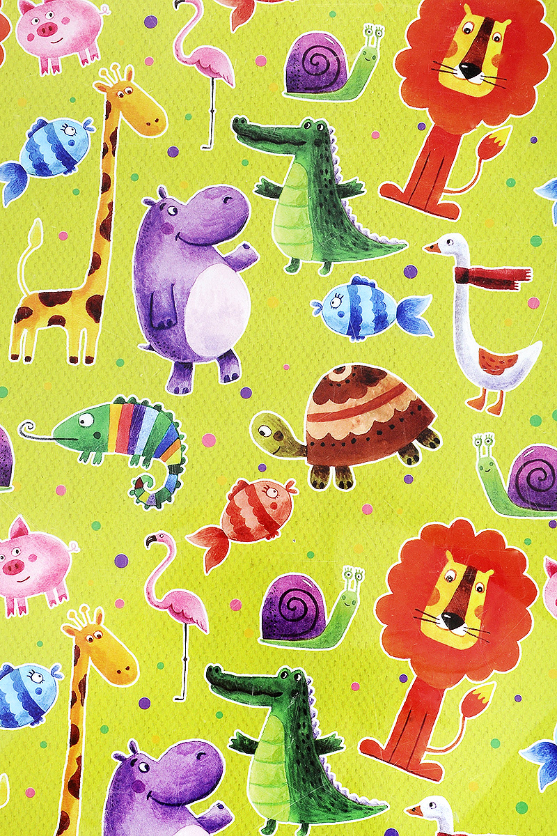 Бумага упаковочная Феникс-Презент Веселые зверята, 100 х 70 см41880Упаковочная бумага Феникс-Презент Веселые зверята оформлена полноцветным декоративным рисунком. Подарок, преподнесенный в оригинальной упаковке, всегда будет самым эффектным и запоминающимся. Бумага с одной стороны мелованная.Окружите близких людей вниманием и заботой, вручив презент в нарядном, праздничном оформлении.Размер: 100 х 70 см.Плотность бумаги: 80 г/м2.