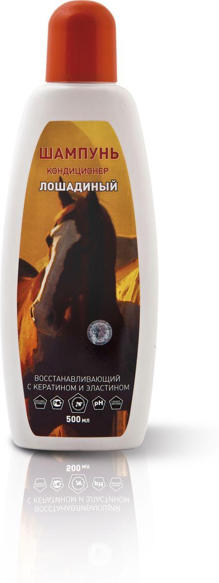 Шампунь-кондиционер для лошадей Пчелодар, концентрат 1:10, 500 мл1068Высокоэффективный шампунь-кондиционер разработан для комплексного, профессионального ухода за густой гривой лошади и кожей. Входящие в состав активные компоненты (провитамин В-5, сок Алоэ Вера, сбор трав и аллантоин) обеспечивают гигиену и чистоту шерсти, восстанавливают поврежденную структуру волос, способствуют быстрому заживлению мелких ран и расчесов, глубоко увлажняют, питают и улучшают на молекулярном уровне шерсть лошади, делая ее блестящей, шелковистой, мягкой и красивой. Кератин и эластин глубоко проникают в волосы животного, насыщают и создают защитный слой, который предохраняет от потери влаги. Применение шампуня-кондиционера гарантирует легкое расчесывание шерсти, снимает статический эффект и не требует применения дополнительных средств по уходу.Экономичное расходование. Концентрат.Шампунь-кондиционер лошадиный подходит для частого применения.Состав:вода очищенная, натрия лаурет сульфат, кокамидопропил бетаин, кокамид ДЕА, экстракт прополиса, кокоамфоацетат натрия, поликватерниум-7, глицерет-7-кокоат, кератин, эластин, провитамин В-5, аллантоин, сок Алоэ Вера, динатрий ЭДТА, экстракты трав (зверобой, крапива, ромашка, арника), парфюмерная композиция, лимонная кислота, метилхлороизотиазолинон и метилизотиазолинон.Способ применения:Шампунь разбавить в емкости в соотношении 1:10 теплой водой, размешать до образования пены, нанести на предварительно смоченный шерстный покров лошади, избегая попадания в глаза и уши, далее смыть шампунь теплой водой. Шерсть высушить и расчесать. При необходимости процедуру повторяют.
