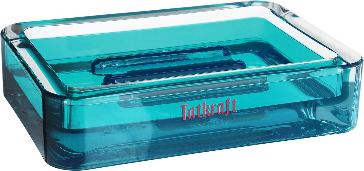 """Прямоугольная мыльница Tatkraft """"Topaz Blue"""" изготовлена из  высококачественного акрила. Легко чистится. Такая мыльница  прекрасно подойдет для ванной комнаты или кухни. Мыльница Tatkraft """"Topaz Blue"""" создаст особую атмосферу уюта и  максимального комфорта в ванной. Размер мыльницы: 12 х 8,5 х 2,5 см."""