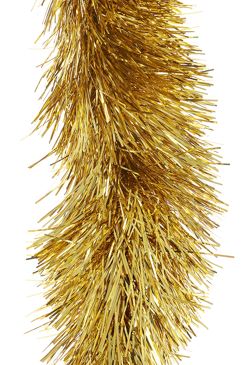 Мишура новогодняя Moranduzzo, цвет: золотой, диаметр 10 см, длина 2 м117012100Мишура новогодняя Moranduzzo, выполненная из ПВХ, поможет вам украсить свой дом к предстоящим праздникам. Новогодняя елка с таким украшением станет еще наряднее. Новогодней мишурой можно украсить все, что угодно - елку, квартиру, дачу, офис - как внутри, так и снаружи. Можно сложить новогодние поздравления, буквы и цифры, мишурой можно украсить и дополнить гирлянды, можно выделить дверные колонны, оплести дверные проемы.