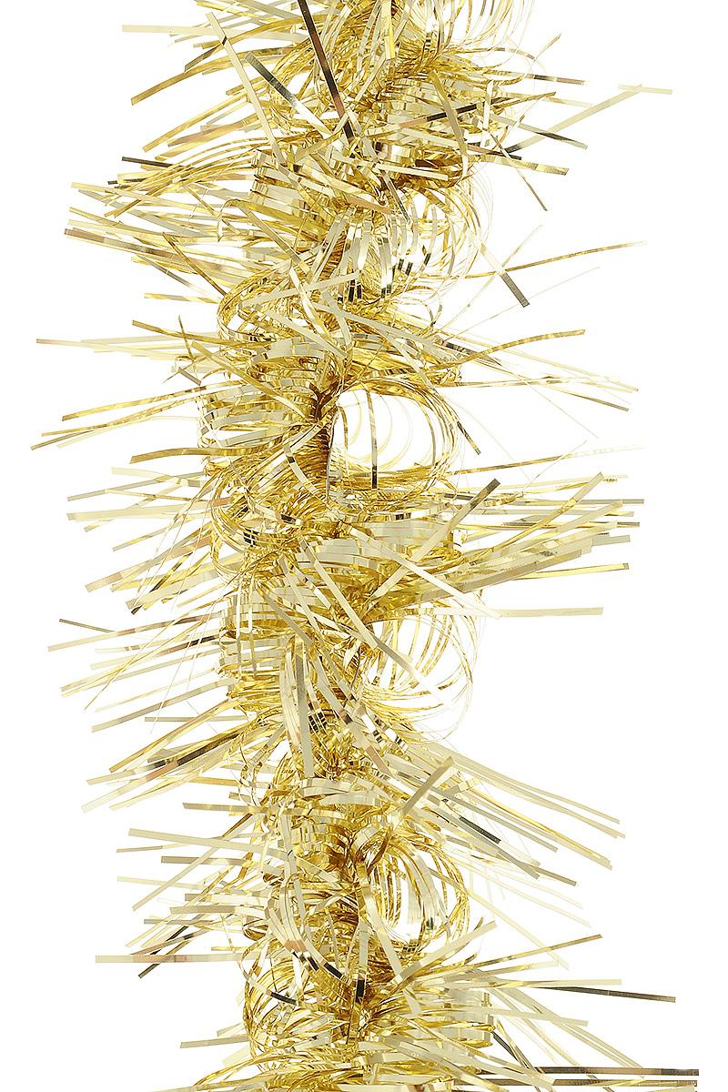 Мишура новогодняя Weiste Кудрявая, цвет: золотой, диаметр 10 см, длина 2 м6572Мишура новогодняя Weiste Кудрявая, выполненная из ПВХ, поможет вам украсить свой дом к предстоящим праздникам. Новогодняя елка с таким украшением станет еще наряднее. Новогодней мишурой можно украсить все, что угодно - елку, квартиру, дачу, офис - как внутри, так и снаружи. Можно сложить новогодние поздравления, буквы и цифры, мишурой можно украсить и дополнить гирлянды, можно выделить дверные колонны, оплести дверные проемы.