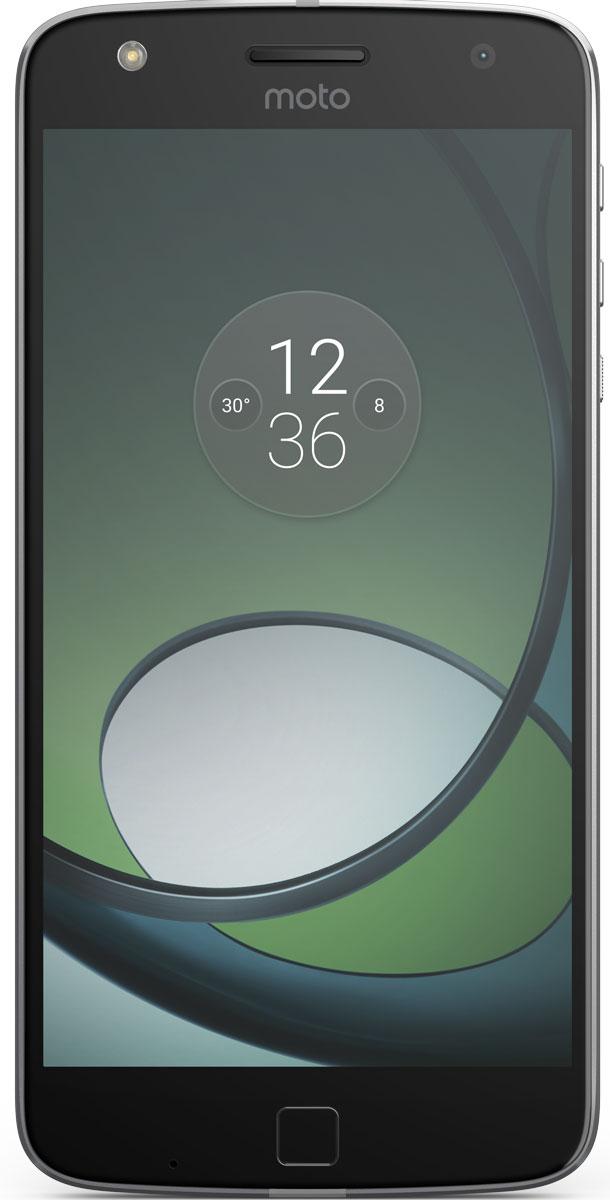 Moto Z Play, Black SilverSM4425AE7U1Moto Z Play. Превосходный аккумулятор. Неограниченные возможности.Модули Moto Mod открывают новые возможности использования телефона. Воплощай свои фантазии при помощи сменных задних панелей, которые крепятся к телефону на мощных встроенных магнитах. Чтобы ты ни задумал, всегда найдется подходящая панель Moto Mod.Что может быть хуже, чем поиск электрической розетки для подзарядки телефона уже после нескольких часов использования? К счастью, Moto Z Play может работать от аккумулятора до 50 часов — ты сможешь продолжить заниматься своими делами без подзарядки телефона.Время драгоценно. Не трать его на подзарядку своего смартфона. Всего несколько мгновений на зарядке, и можно продолжить движение. Функция быстрой зарядки TurboPower обеспечит до 10 часов автономной работы твоего устройства всего за 15 минут подзарядки.Благодаря камере 16 Мпикс и двум дополнительным системам автофокуса Moto Z Play позволяет делать четкие фотографии гораздо быстрее. Высокая скорость работы лазерного и фазового (PDAF) автофокуса дает возможность не упустить отличный кадр — неважно, днем или ночью.На снимках, сделанных фронтальной пятимегапиксельной камерой с широкоугольным объективом, поместятся все твои друзья. Благодаря дополнительной вспышке на передней панели каждый будет выглядеть превосходно, даже при плохом освещении.Moto Z Play оснащен превосходным 5,5-дюймовым Full HD-дисплеем Super AMOLED 1080p в тонкой металлической рамке. Он подарит прекрасное качество изображений — яркие оттенки и интригующие детали в фото, видео и играх прекрасно дополняют стильный корпус смартфона.Играй, смотри потоковое видео и открывай несколько приложений одновременно без малейшего промедления. Восьмиядерный процессор 2,0 ГГц в паре с 3 ГБ быстрой оперативной памяти обеспечивает плавную работу и сможет справиться с любой задачей.Запомнить пароль бывает непросто. Что ж, запомнив отпечатки твоих пальцев, Moto Z значительно упростит твою жизнь. Это позволит мгновенно и безо