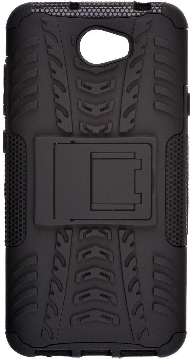 Skinbox Defender Сase чехол для Huawei Y5II, Black2000000114538Чехол-накладка Skinbox Defender Case для Huawei Y5II бережно и надежно защитит ваш смартфон от пыли, грязи, царапин и других повреждений. Выполнен из высококачественного поликарбоната, плотно прилегает и не скользит в руках. Чехол-накладка оставляет свободным доступ ко всем разъемам и кнопкам устройства.