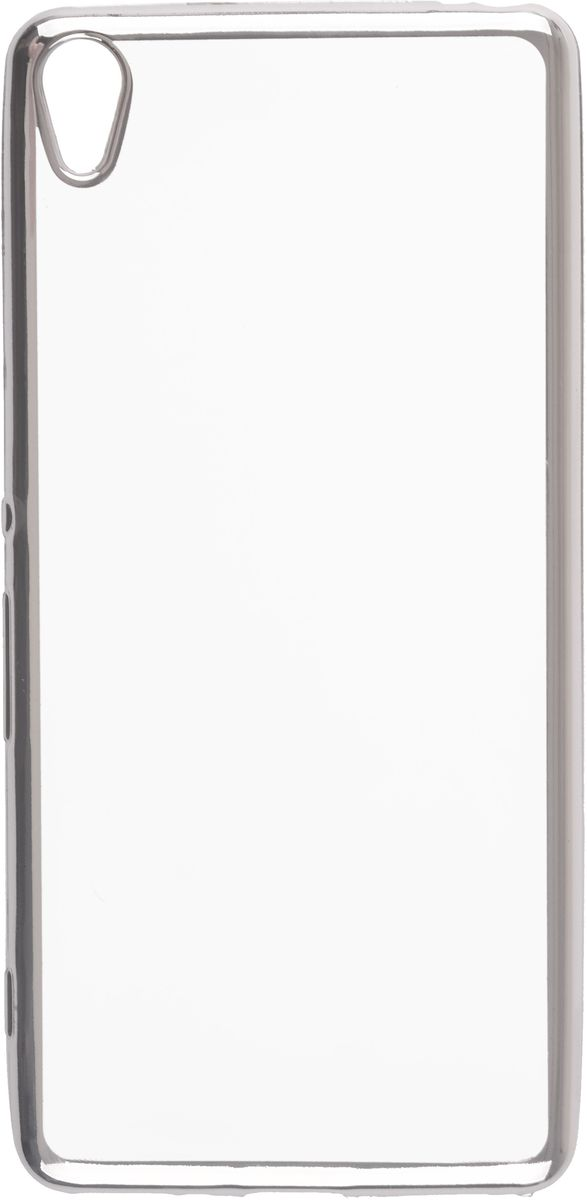 Skinbox Silicone Chrome Border 4People чехол для Sony Xperia XA, Silver