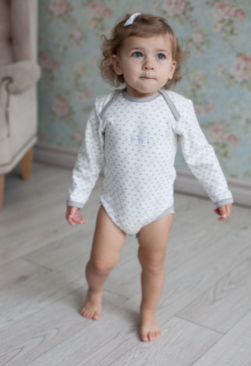 Боди для девочки Lucky Child Дуэт, цвет: бежевый, молочный, 2 шт. 33-5. Размер 80/86 боди детское lucky child улитки цвет молочный коричневый 3 шт 30 133 размер 80 86