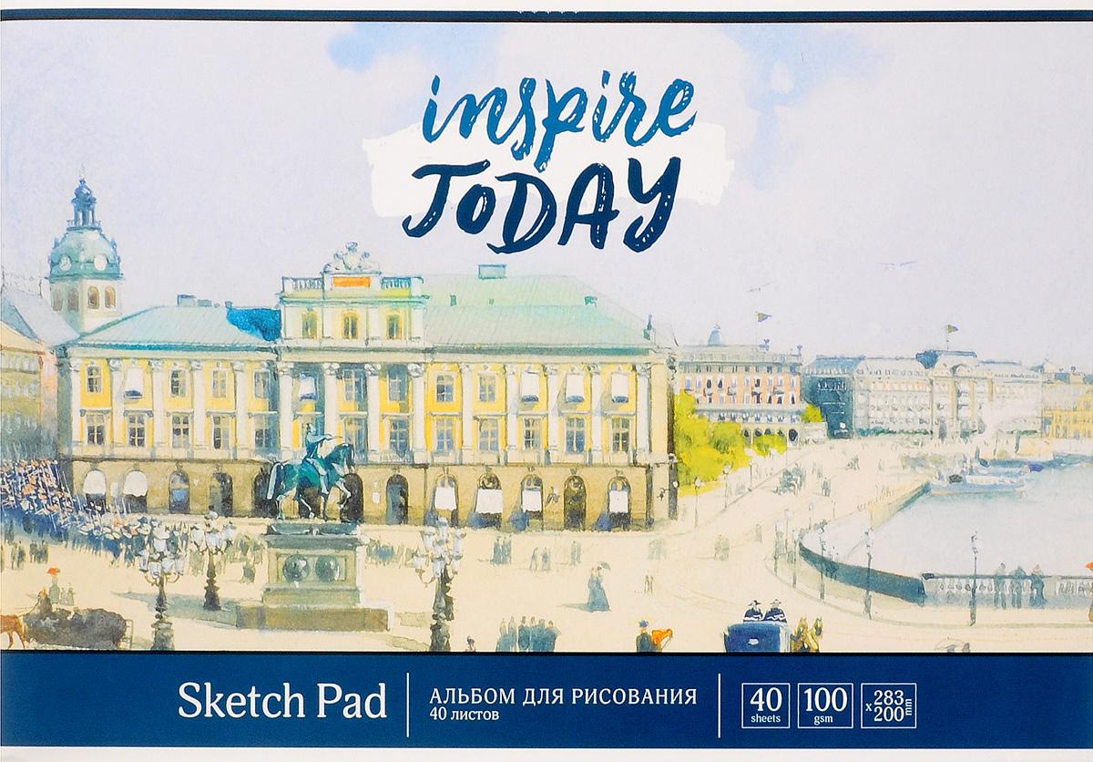 ArtSpace Альбом для рисования Акварель Город 40 листов цвет голубой бур dewalt dt9531 qz