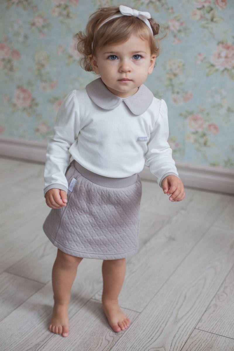 Юбка для девочки Lucky Child Дуэт, цвет: бежевый. 33-35. Размер 74/80 пижама для девочки lucky child цвет кремовый желтый оранжевый 12 402 размер 80 86