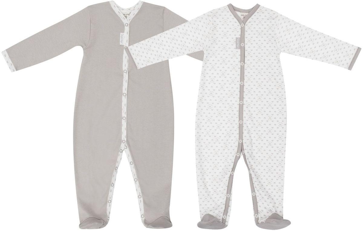 Комбинезон детский Lucky Child Дуэт, цвет: бежевый, молочный, 2 шт. 33-1. Размер 56/6233-1Комбинезон, это незаменимая вещь в гардеробе любого активного ребенка. Обратите внимание на удобные кнопочки, которые значительно облегчают процесс переодевания. Комбинезон можно использовать вместо штанишек, просто наденьте сверху кофточку и выходной наряд готов.