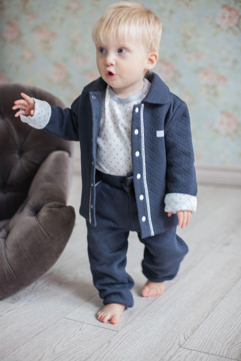Кофта для мальчика Lucky Child Дуэт, цвет: темно-серый. 33-16. Размер 62/68 пижамы lucky child пижама