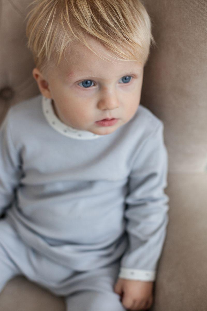 Фото Кофта для мальчика Lucky Child Дуэт, цвет: серый, молочный, 3 шт. 33-12. Размер 80/86