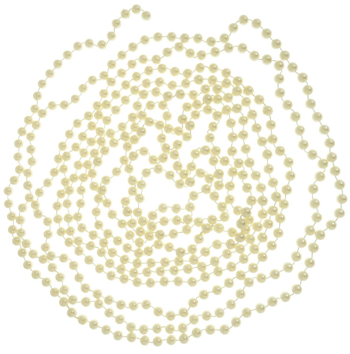 Гирлянда новогодняя Lovemark Бусы, цвет: жемчужный, длина 5 мT801/5F/PERLНовогодняя гирлянда Lovemark Бусы, выполненная из пластика и текстиля, украсит интерьер вашего дома или офиса в преддверии Нового года. Оригинальный дизайн и красочное исполнение создадут праздничное настроение. Новогодние украшения всегда несут в себе волшебство и красоту праздника. Создайте в своем доме атмосферу тепла, веселья и радости, украшая его всей семьей.Общая длина гирлянды: 5 м.Диаметр бусины: 8 мм.