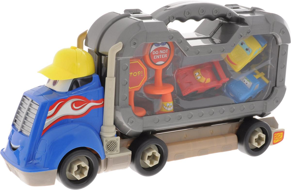 Boley Игровой набор Смелый гонщик с машинками цвет синий серый