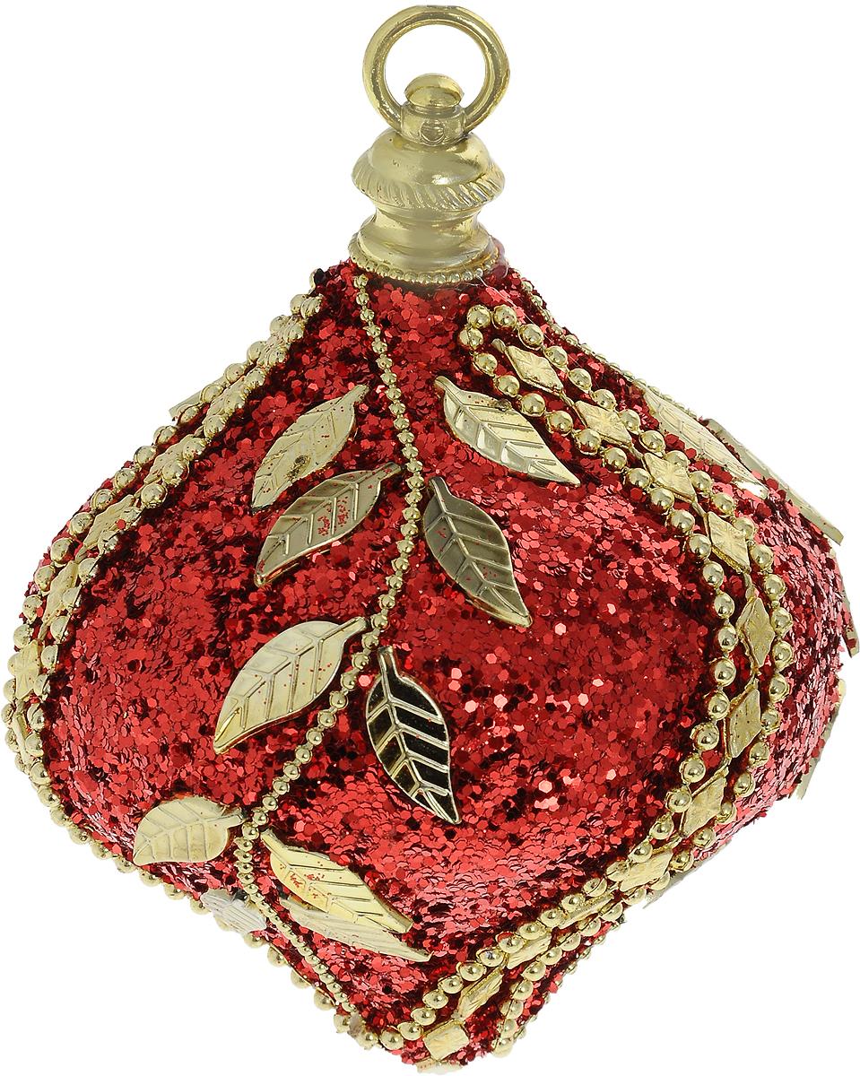 Украшение новогоднее подвесное Lovemark Луковица, цвет: красный, золотой, высота 11 смHZ38-85/108RНовогоднее подвесное украшение Lovemark Луковица выполнено из пенопласта и пластика. С помощью специальной петельки украшение можно повесить в любом понравившемся вам месте. Но, конечно, удачнее всего оно будет смотреться на праздничной елке.Елочная игрушка - символ Нового года. Она несет в себе волшебство и красоту праздника. Создайте в своем доме атмосферу веселья и радости, украшая новогоднюю елку нарядными игрушками, которые будут из года в год накапливать теплоту воспоминаний.