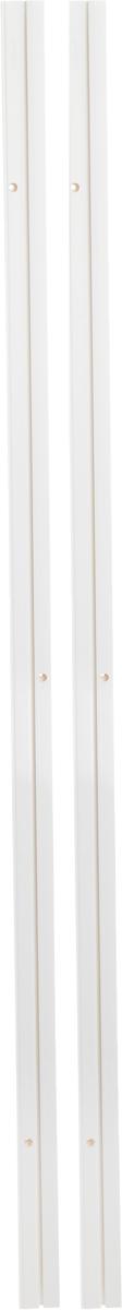 Карниз шинный потолочный Эскар, составной, однорядный, с аксессуарами, цвет: белый, длина 300 см