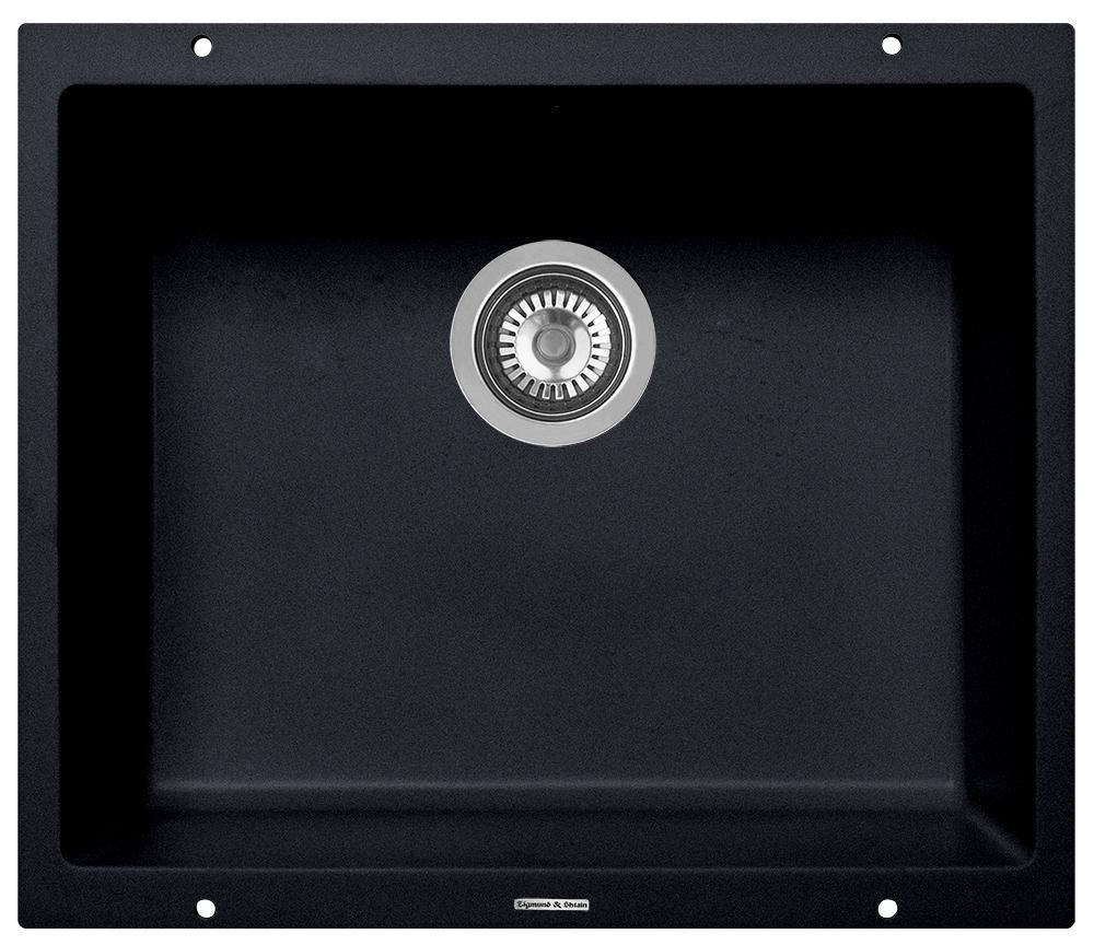 Zigmund & Shtain INTEGRA 500, кухонная мойка с подстольной установкой , иск.гранит, 1 чаша, форма- прямоугольная, глубина-20, Цвет Темная скала