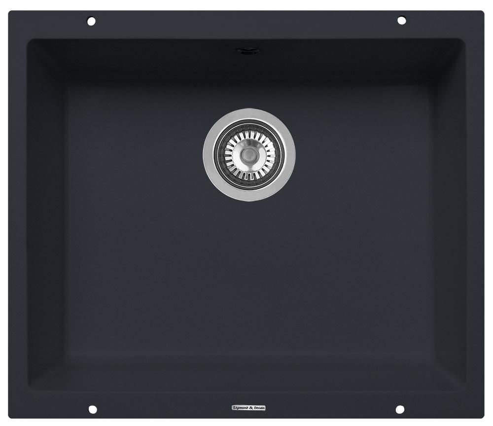 Мойка Zigmund & Shtain Integra500, подстольная, цвет: черный базальт, 39,6 х 50 см zigmund amp shtain integra 500 2 индийская ваниль