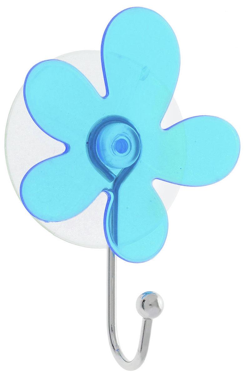 Крючок Top Star Клякса, на вакуумной присоске, цвет: синий, серебристый, 6 х 3 х 10 см175332_синий, серебристыйКрючок Top Star Клякса изготовлен из хромированной стали и украшен оригинальной пластиковой вставкой. Крючок крепится к поверхности при помощи присоски. Для надежности крепленияприсоску необходимо устанавливать на гладкой, воздухонепроницаемой, очищенной иобезжиренной поверхности. Такой крючок прекрасно впишется в интерьер ванной комнаты и поможет эффективноорганизовать пространство.