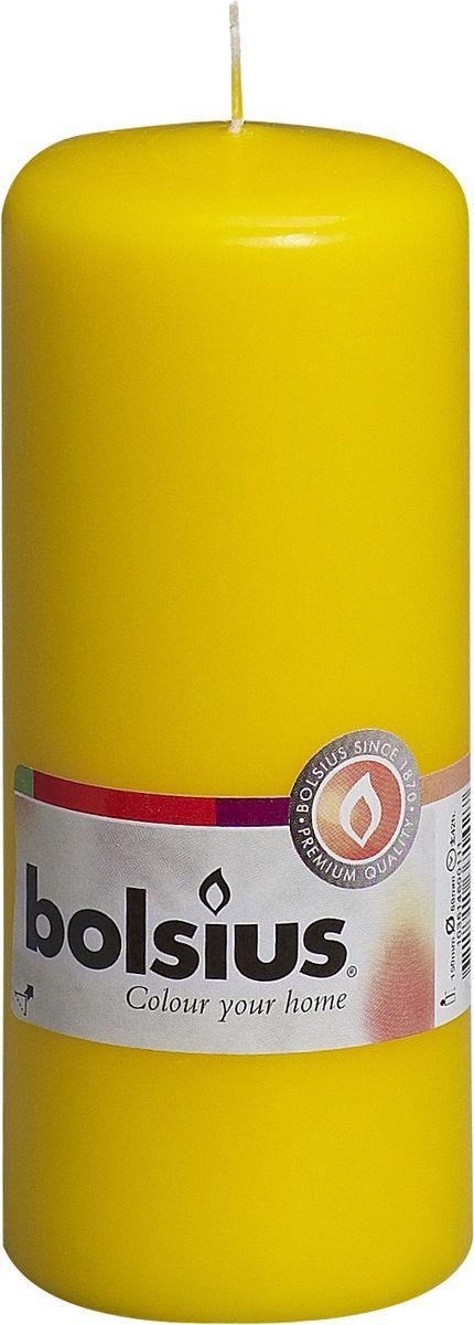 Свеча Bolsius, цвет: желтый, высота 15 см103614600111Свеча Bolsius выполнена из парафина в классическом стиле. Ее можно поставить в любое место и она станет ярким украшением интерьера. Свеча Bolsius создаст незабываемую атмосферу, будь то торжество, романтический вечер или будничный день.