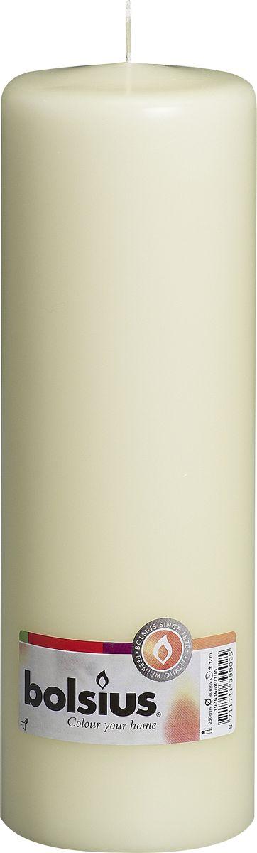 Свеча Bolsius, цвет: кремовый, высота 25 см свеча ароматизированная bolsius магнолия высота 6 3 см
