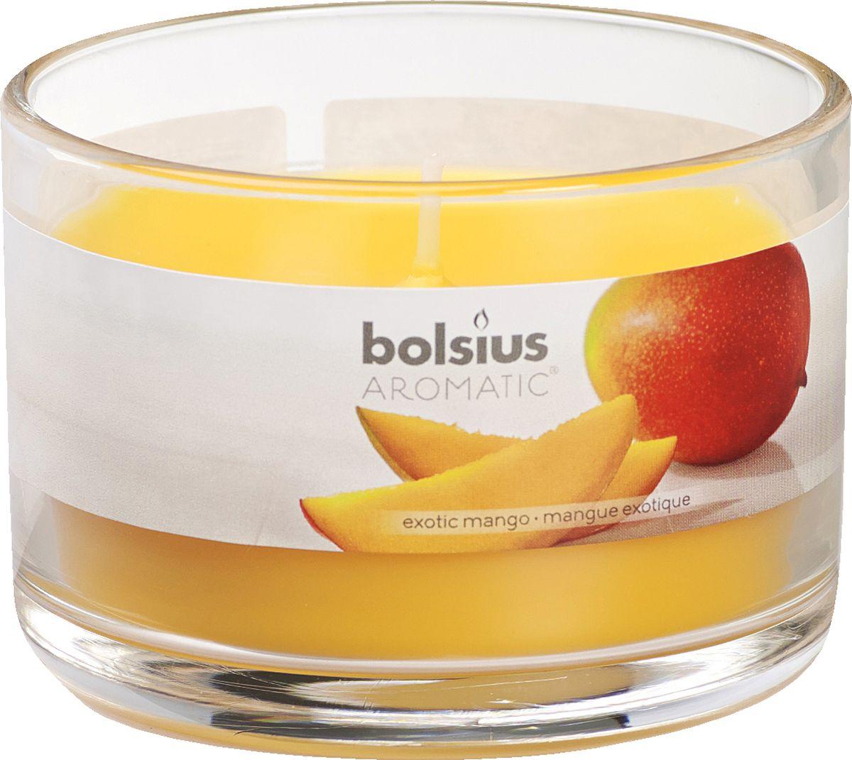 Свеча ароматизированная Bolsius Манго, высота 6,3 см103625820310Ароматизированная свеча Bolsius, изготовленная из парафина, помещена в подсвечник, выполненный из стекла. Изделие отличается оригинальным дизайном и приятным ароматом. Такая свеча не только поможет дополнить интерьер вашей комнаты, но и станет отличным подарком.