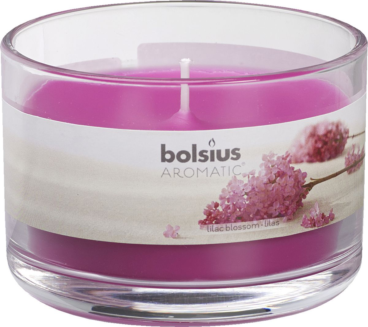 Свеча ароматизированная Bolsius Сирень, высота 6,3 см103625820351Ароматизированная свеча Bolsius, изготовленная из парафина, помещена в подсвечник, выполненный из стекла. Изделие отличается оригинальным дизайном и приятным ароматом. Такая свеча не только поможет дополнить интерьер вашей комнаты, но и станет отличным подарком.