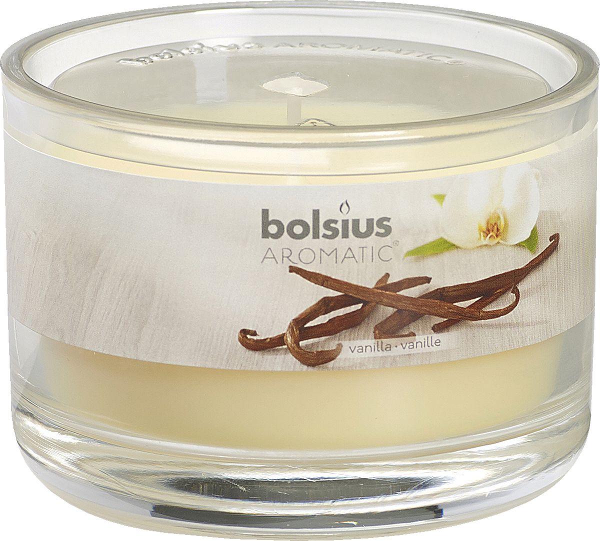 """Ароматизированная свеча """"Bolsius"""", изготовленная из парафина, помещена в подсвечник, выполненный из стекла. Изделие отличается оригинальным дизайном и приятным ароматом. Такая свеча не только поможет дополнить интерьер вашей комнаты, но и станет отличным подарком."""