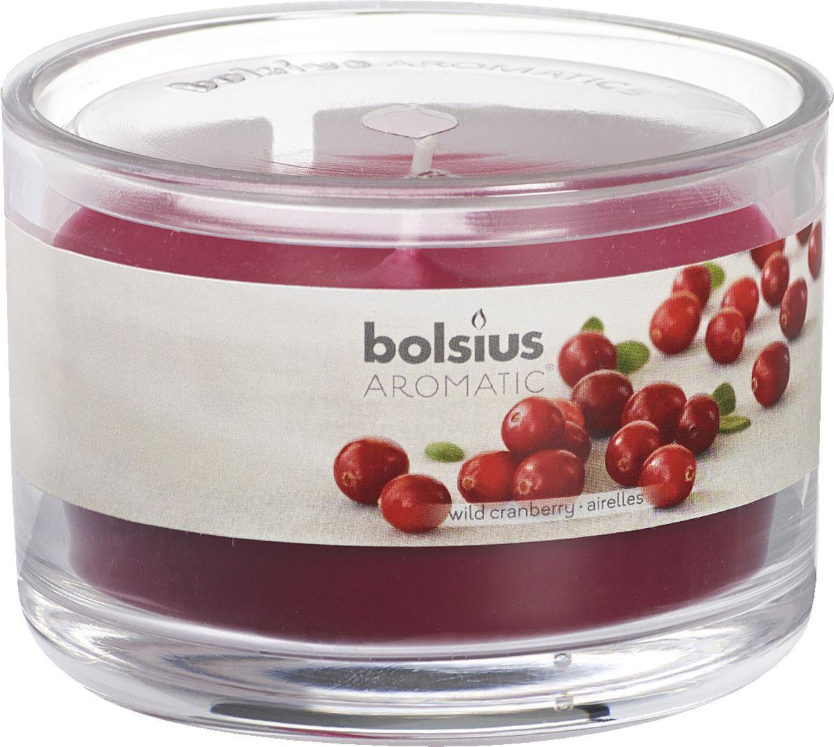 Свеча ароматизированная Bolsius Клюква, высота 6,3 см свеча ароматизированная bolsius магнолия высота 6 3 см