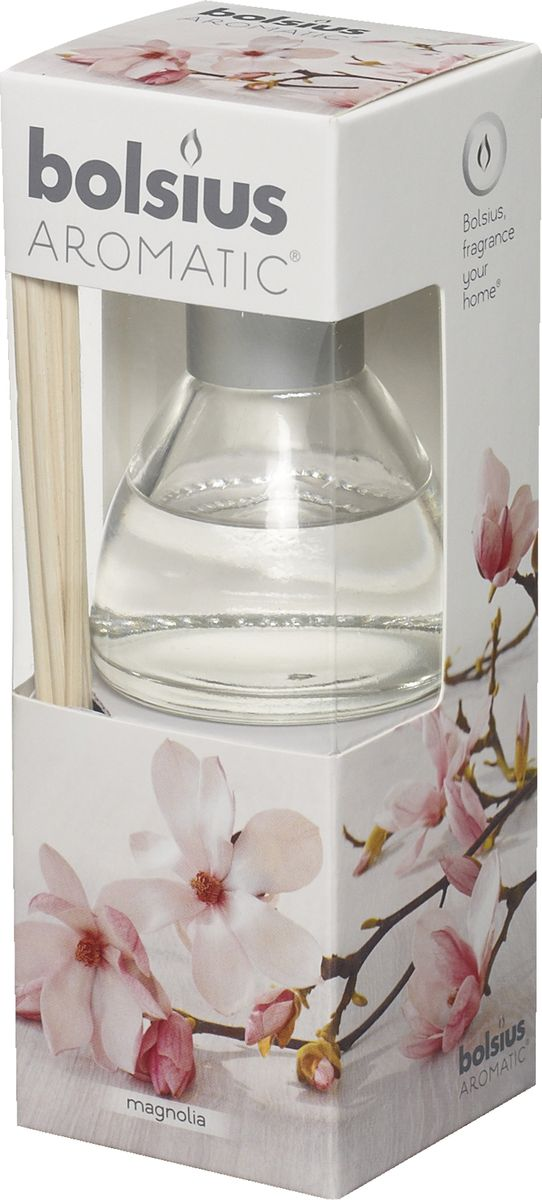 Диффузор ароматический Bolsius Магнолия, 45 мл ароматический диффузор cristalinas premium для жилых помещений с ароматом магнолии 180 мл
