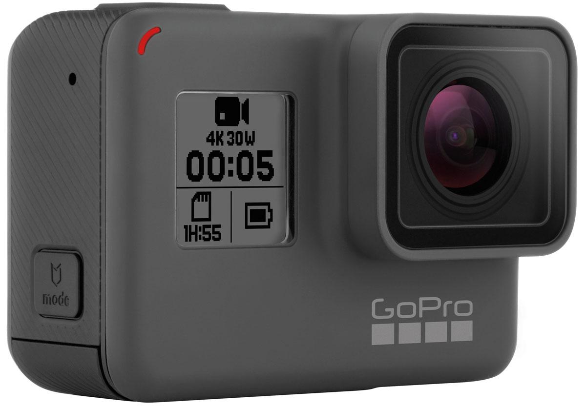 GoPro Hero 5, Black экшн-камераCHDHX-501GoPro GoPro Hero 5 Black - это самая совершенная камера GoPro на текущий момент.Почувствуйте полный контроль над вашей камерой с помощью простых голосовых команд! Вы можете менять настройки, просматривать и воспроизводить ваше видео и снимки, монтировать видео на 2-дюймовом сенсорном дисплее. Прочный водонепроницаемый корпус выдержит погружение под воду до 10 м без дополнительного аквабокса.Простое управление одной кнопкой - одно нажатие на кнопку затвора и камера начинает запись автоматически. А интеллектуальная стабилизация видео обеспечит потрясающе плавные видеокадры.С помощью платформы GoPro Plus камера Hero 5 Black может автоматически загружать фотографии и видео прямо в облачное хранилище для удобства просмотра, редактирования и совместного использования.Наслаждайтесть записью видео в формате 4К и фото 12 MP, а возможность делать фото в формате RAW фотографии обеспечит максимальные возможности для редактирования и обработки фото. Стерео аудио обеспечивает новые возможности звука, а встроенный в камеру GPS-датчик зафиксирует место, где созданы ваши фотографии и видео.
