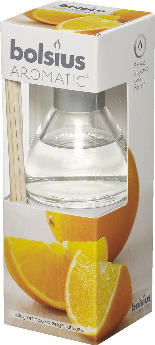 Диффузор ароматический Bolsius Апельсин, 45 мл103626800484Ароматический диффузор Bolsius - это простое, изящное и долговременное решение, как наполнить дом или офис приятным запахом.Диффузор - это не просто освежитель воздуха, а элемент декора, который окутает вас своим приятным и нежным ароматом. Отлично подойдет в качестве подарка. Способ применения: поместите палочки в вазу с ароматической жидкостью. Степень интенсивности запаха может регулироваться объемом ароматической жидкости и количеством палочек. Товар сертифицирован.