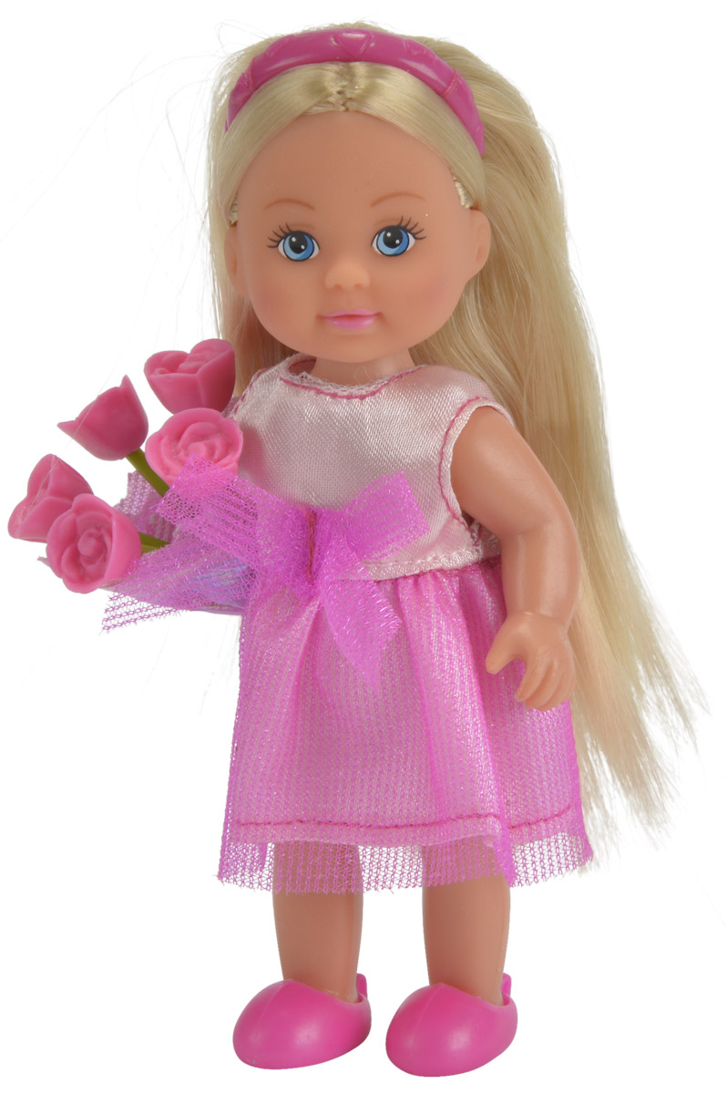 simba кукла еви с подружкой Simba Мини-кукла Еви-подружка невесты цвет платья розовый