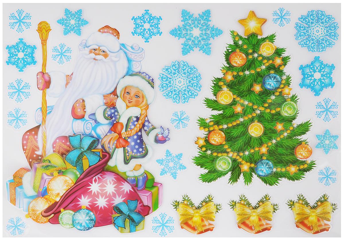 Украшение новогоднее оконное Room Decoration Дед Мороз и СнегурочкаRCX0006Новогоднее оконное украшение Room Decoration Дед Мороз и Снегурочка поможет украсить дом к предстоящим праздникам. Наклейки изготовлены из самоклеющегося поливинилхлорида. С помощью 3D объемных стикеров вы сможете оживить интерьер по своему вкусу: наклеить их на окно, на зеркало, стены и мебель. Допускается повторное использование.Новогодние украшения всегда несут в себе волшебство и красоту праздника. Создайте в своем доме атмосферутепла, веселья и радости, украшая его всей семьей.Размер листа: 29 х 41 см.Количество наклеек на листе: 24 шт.Размер самой большой наклейки: 18,5 х 25,5 см.Размер самой маленькой наклейки: 2,3 х 2,3 см.