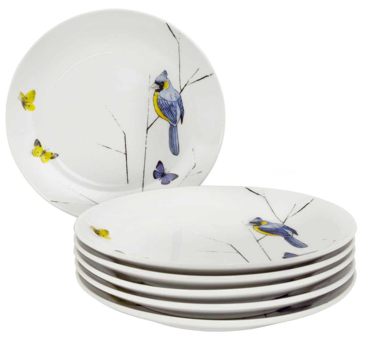Набор десертных тарелок Esprado Primavera, цвет: белый, черный, голубой, 20,5 см, 6 шт. PRM021YE3014787BLANC-1-6Набор Esprado Primavera состоит из шести десертных тарелок,выполненных из высококачественного твердогофарфора.Над созданием дизайна коллекций посуды из твердогофарфора Esprado работает международная командавысококлассных дизайнеров, не только воплощающих вжизнь все новейшие тренды, но также ипридерживающихся многовековых традиций присоздании классических коллекций.Посуда из твердого фарфора будет идеальным выбором,для тех, кто предпочитает красивую современную посудуиз высококачественного материала, которая отличаетсявысокой прочностью и подходит для ежедневного использования.