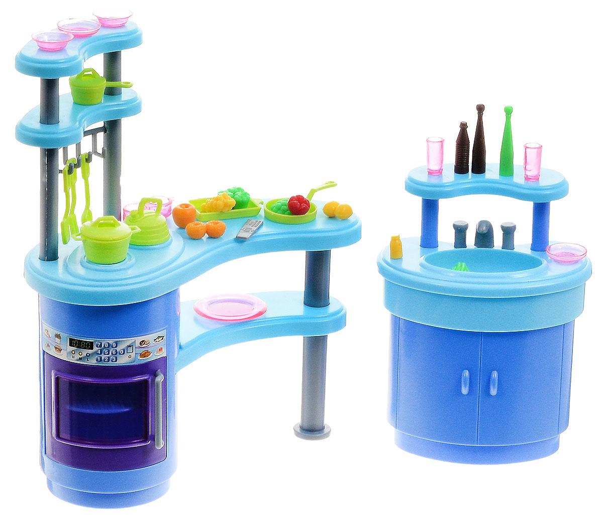 1TOY Набор мебели для кукол Кухня Красотка 1toy 1toy карета с лошадью для кукол 1 местн т53235