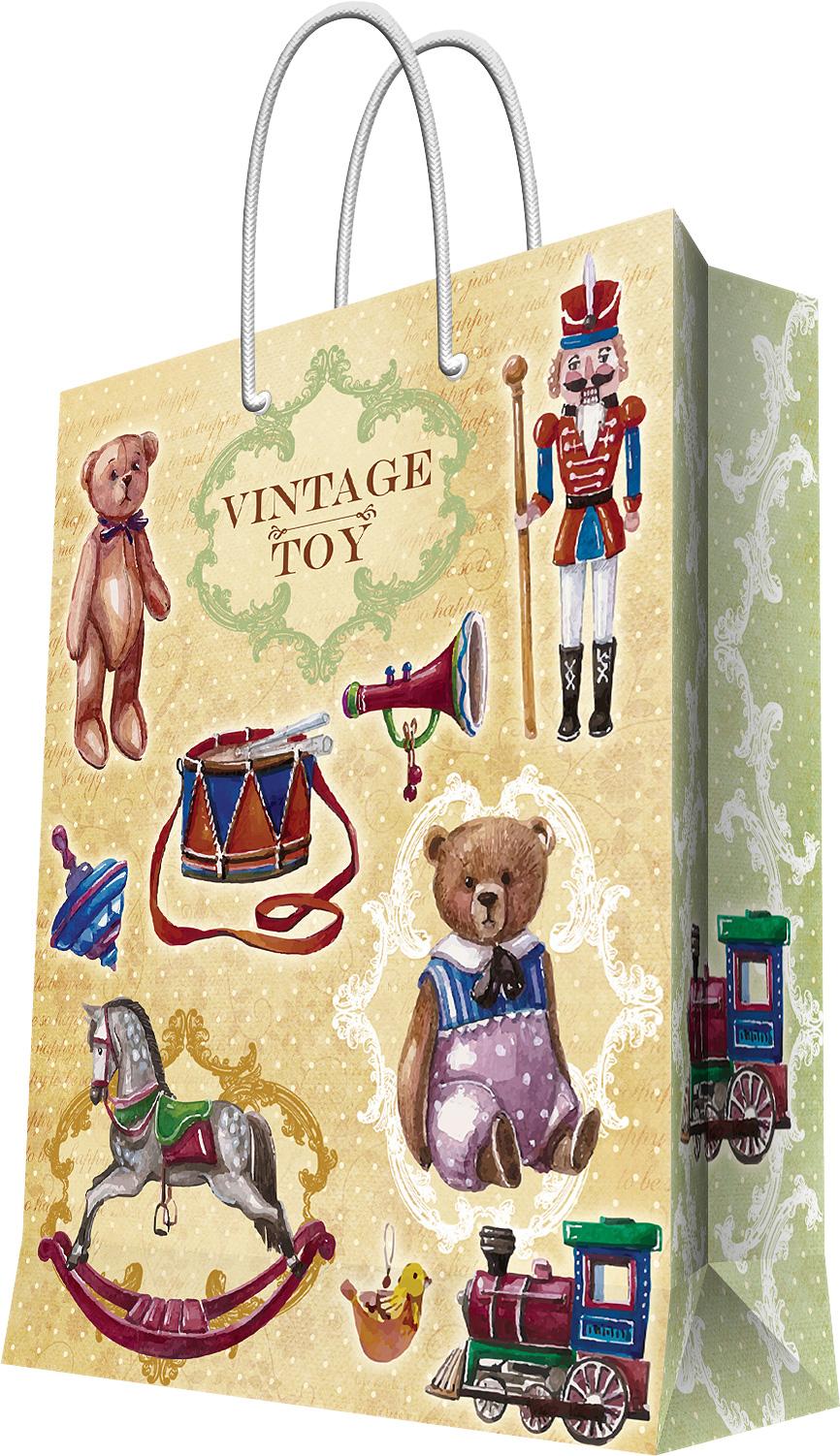 Пакет подарочный Magic Home Сказочные игрушки, 17,8 х 22,9 х 9,8 см44184Подарочный пакет Magic Home, изготовленный из плотной бумаги, станет незаменимым дополнением к выбранному подарку. Дно изделия укреплено картоном, который позволяет сохранить форму пакета и исключает возможность деформации дна под тяжестью подарка. Пакет выполнен с глянцевой ламинацией, что придает ему прочность, а изображению - яркость и насыщенность цветов. Для удобной переноски имеются две ручки в виде шнурков.Подарок, преподнесенный в оригинальной упаковке, всегда будет самым эффектным и запоминающимся. Окружите близких людей вниманием и заботой, вручив презент в нарядном, праздничном оформлении.Плотность бумаги: 140 г/м2.