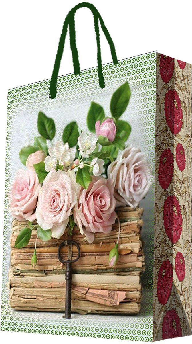 Пакет подарочный Magic Home Книги и розы, 33 х 45,7 х 10,2 см44209Подарочный пакет Magic Home, изготовленный из плотной бумаги, станет незаменимым дополнением к выбранному подарку. Дно изделия укреплено картоном, который позволяет сохранить форму пакета и исключает возможность деформации дна под тяжестью подарка. Пакет выполнен с глянцевой ламинацией, что придает ему прочность, а изображению - яркость и насыщенность цветов. Для удобной переноски имеются две ручки в виде шнурков.Подарок, преподнесенный в оригинальной упаковке, всегда будет самым эффектным и запоминающимся. Окружите близких людей вниманием и заботой, вручив презент в нарядном, праздничном оформлении.Плотность бумаги: 140 г/м2.