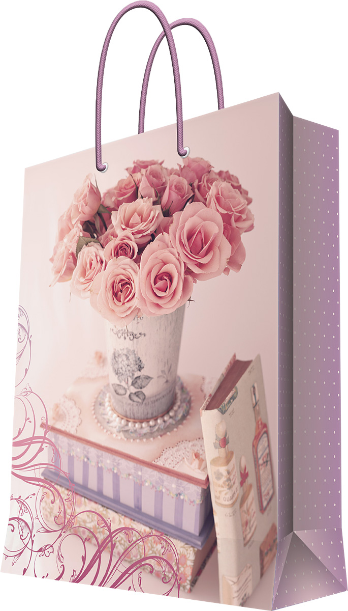 Пакет подарочный Magic Home Ваза с розами, 40,6 х 48,9 х 19 см44216Подарочный пакет Magic Home, изготовленный из плотной бумаги, станет незаменимым дополнением к выбранному подарку. Дно изделия укреплено картоном, который позволяет сохранить форму пакета и исключает возможность деформации дна под тяжестью подарка. Пакет выполнен с глянцевой ламинацией, что придает ему прочность, а изображению - яркость и насыщенность цветов. Для удобной переноски имеются две ручки в виде шнурков.Подарок, преподнесенный в оригинальной упаковке, всегда будет самым эффектным и запоминающимся. Окружите близких людей вниманием и заботой, вручив презент в нарядном, праздничном оформлении.Плотность бумаги: 157 г/м2.
