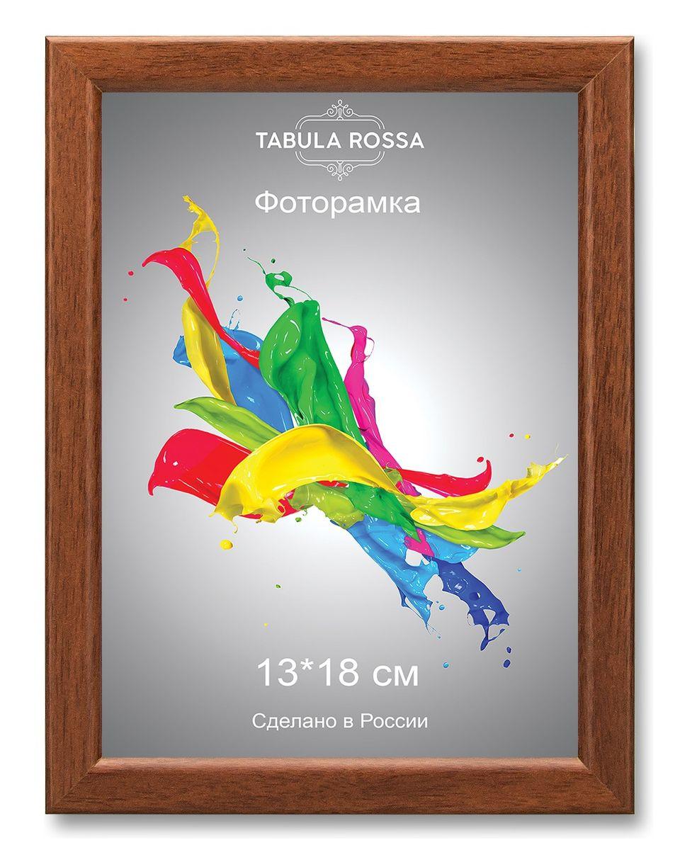 Фоторамка Tabula Rossa, цвет: орех, 13 х 18 см. ТР 5123ТР 5123Фоторамка Tabula Rossa выполнена в классическом стиле из высококачественного МДФ и стекла, защищающего фотографию. Оборотная сторона рамки оснащена специальной ножкой, благодаря которой ее можно поставить на стол или любое другое место в доме или офисе. Также изделие дополнено двумя специальными креплениями для подвешивания на стену.Такая фоторамка не теряет своих свойств со временем, не деформируется и не выцветает. Она поможет вам оригинально и стильно дополнить интерьер помещения, а также позволит сохранить память о дорогих вам людях и интересных событиях вашей жизни.