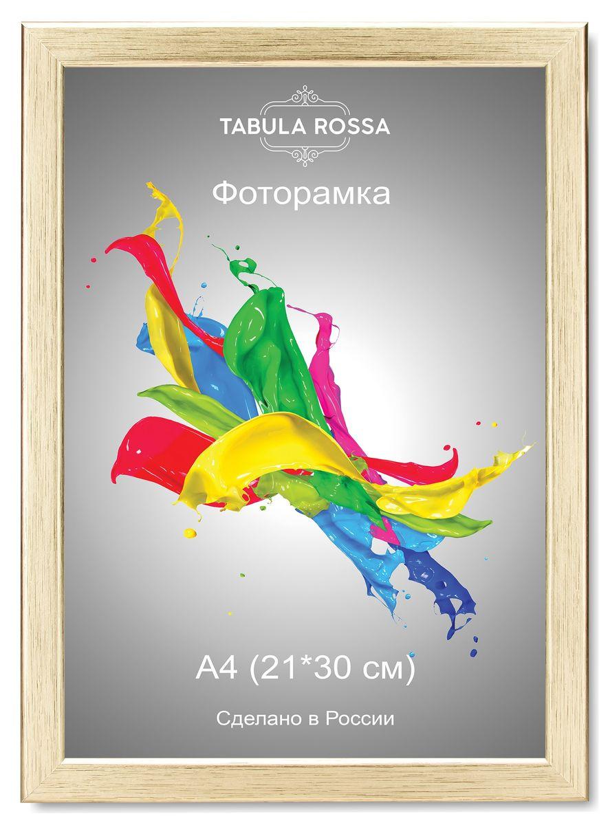 Фоторамка Tabula Rossa, цвет: золото, 21 х 30 см. ТР 5310ТР 5310Фоторамка Tabula Rossa выполнена в классическом стиле из высококачественного МДФ и стекла, защищающего фотографию. Оборотная сторона рамки оснащена специальной ножкой, благодаря которой ее можно поставить на стол или любое другое место в доме или офисе. Также изделие дополнено двумя специальными креплениями для подвешивания на стену.Такая фоторамка не теряет своих свойств со временем, не деформируется и не выцветает. Она поможет вам оригинально и стильно дополнить интерьер помещения, а также позволит сохранить память о дорогих вам людях и интересных событиях вашей жизни.