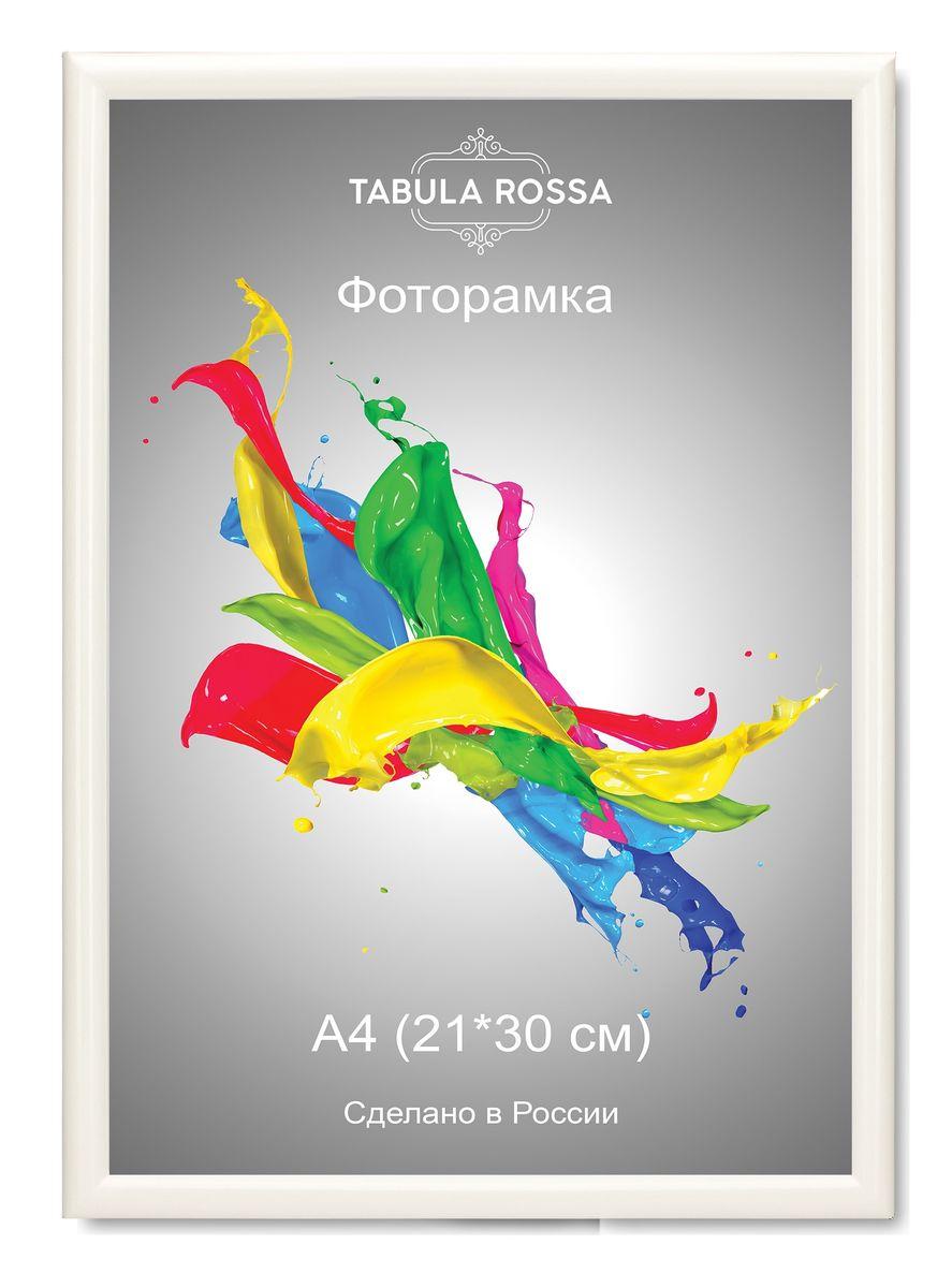 Фоторамка Tabula Rossa, цвет: белый глянец, 21 х 30 см. ТР 6005 фоторамка tabula rossa металлик цвет серебристый 21 х 30 см