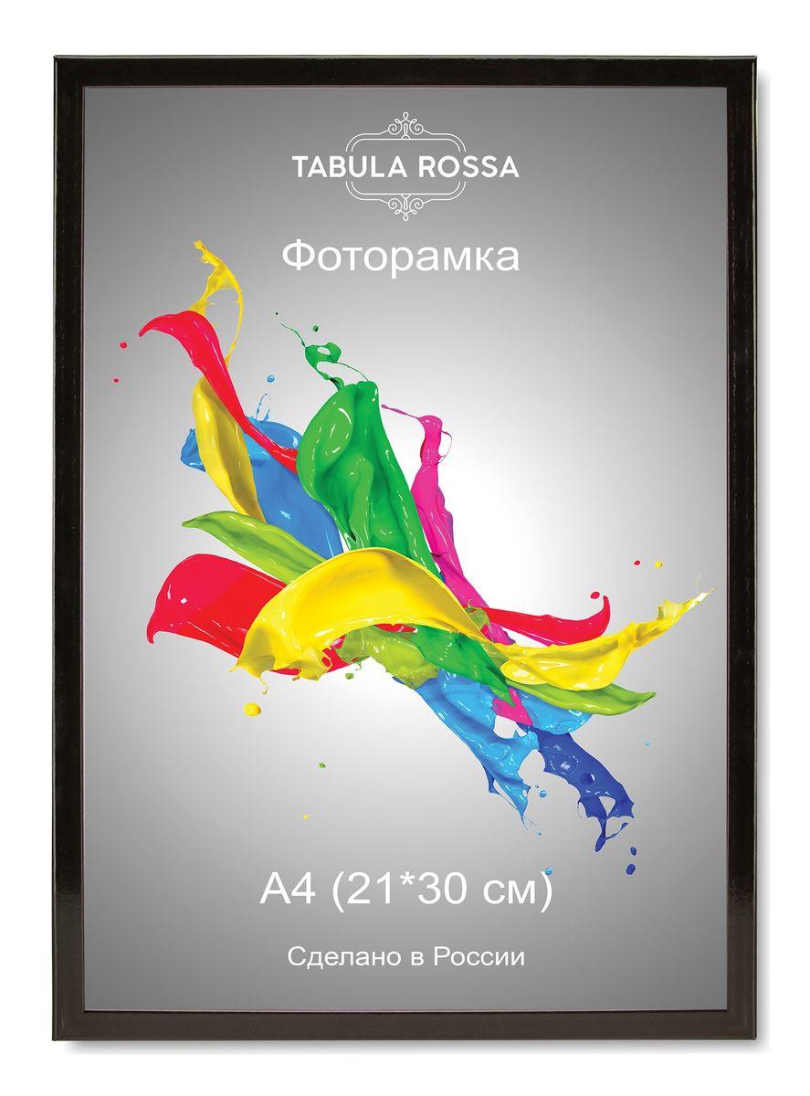 Фоторамка Tabula Rossa, цвет: черный глянец, 21 х 30 см. ТР 6008 фоторамка tabula rossa металлик цвет серебристый 21 х 30 см
