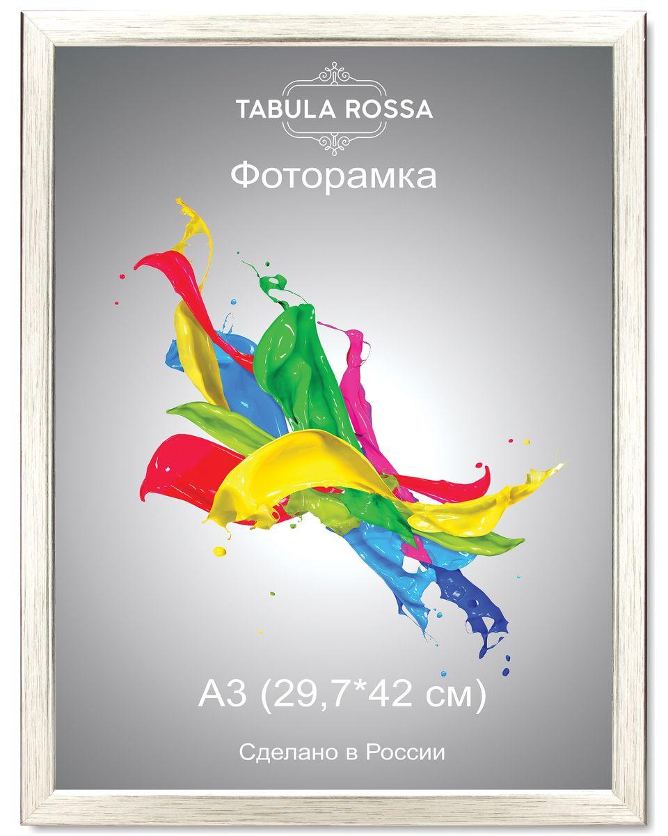 Фоторамка Tabula Rossa, цвет: серебро, 29,7 х 42 см. ТР 6024ТР 6024Фоторамка Tabula Rossa выполнена в классическом стиле из высококачественного МДФ и стекла, защищающего фотографию. Оборотная сторона рамки оснащена специальной ножкой, благодаря которой ее можно поставить на стол или любое другое место в доме или офисе. Также изделие дополнено двумя специальными креплениями для подвешивания на стену.Такая фоторамка не теряет своих свойств со временем, не деформируется и не выцветает. Она поможет вам оригинально и стильно дополнить интерьер помещения, а также позволит сохранить память о дорогих вам людях и интересных событиях вашей жизни.