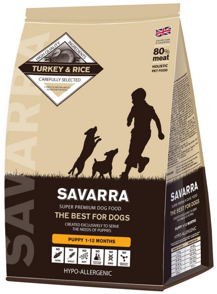 Корм сухой Savarra для щенков, с индейкой и рисом, 3 кг люми токоферола ацетат витамин е