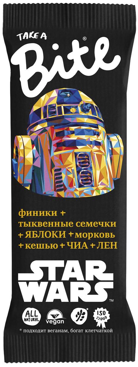 Take A Bite Звездные войны Морковь-Кешью Контроль веса батончик фруктово-ореховый, 45 г батончик smart formula контроль веса фрукты и молотый имбирь 40 г