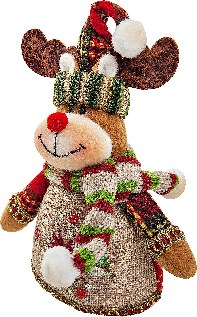 Мягкая игрушка Mister Christmas ОленьCHL-320DRТрудно представить новый год без новогодних игрушек. Mister Christmas представляет коллекцию новогодних игрушек, в ассортимент которой входят как мягкие игрушки с образами классических новогодних героев - Дед Мороз, Снеговик, так и подушки, электромеханические игрушки, рождественские носки для подарков и многое другое. Новогодняяигрушка Mister Christmas Олень станет приятным подарком как для детей, так и для взрослых.
