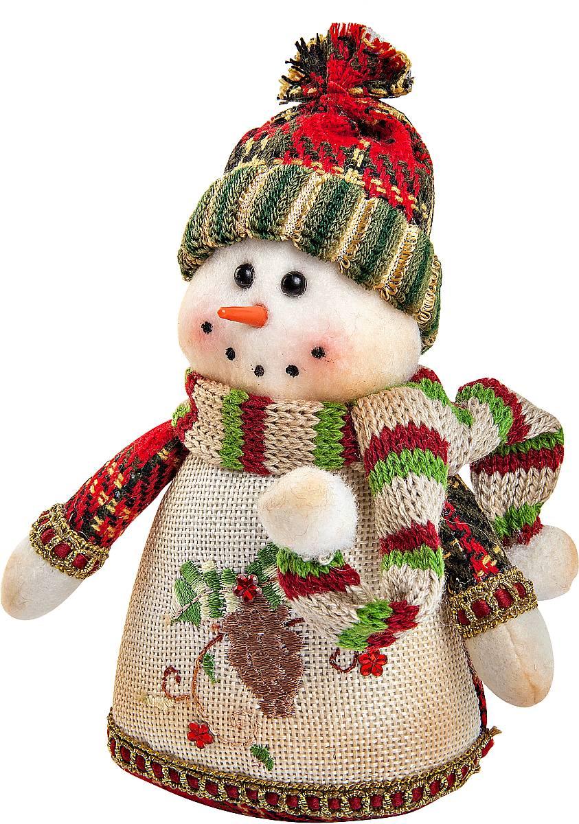 Игрушка новогодняя мягкая Mister Christmas Снеговик, высота 17 смCHL-320SMМягкая новогодняя игрушка Mister Christmas Снеговик, изготовленная из текстиля, прекрасно подойдет для праздничного декора дома. Изделие можно разместить в любом понравившемся вам месте. Новогодняя игрушка несет в себе волшебство и красоту праздника. Создайте в своем доме атмосферу веселья и радости, украшая дом красивыми игрушками, которые будут из года в год накапливать теплоту воспоминаний.Высота игрушки: 17 см.