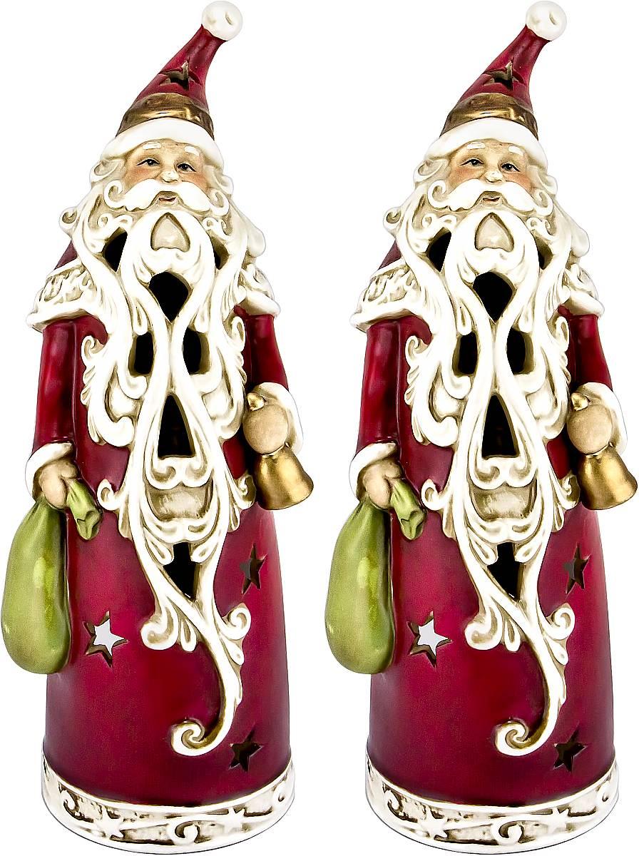 """Набор Mister Christmas """"Дед Мороз"""" состоит из двух  подсвечников, выполненных из керамики. Оригинальный  дизайн и красочное исполнение создадут праздничное  настроение. Каждый подсвечник выполнен в форме Деда  Мороза и оснащен отверстием для одной чайной свечи.  Вы можете поставить такие подсвечники в любом месте,  где они будут удачно смотреться, и радовать глаз. Кроме  того такой набор станет отличным вариант подарка для  ваших близких и друзей в преддверии Нового года."""