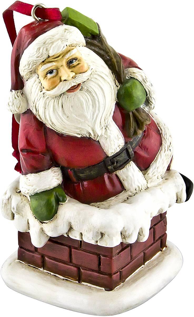 Украшение новогоднее подвесное Mister Christmas  Дед Мороз , высота 10 см. TM-A-1 - Украшения
